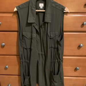 A New Day olive green vest